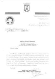 raspuns Tribunalul Bucuresti